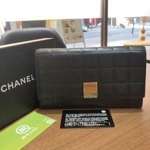 モノカウ心斎橋店にてシャネルの【チョコバー】の長財布を買取