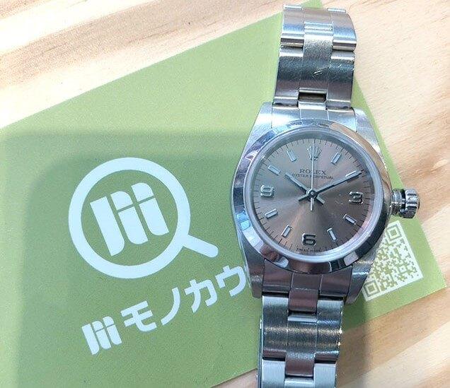 モノカウ心斎橋店にて岸和田のお客様からロレックスの腕時計【オイスターパーペチュアル】を買取_01
