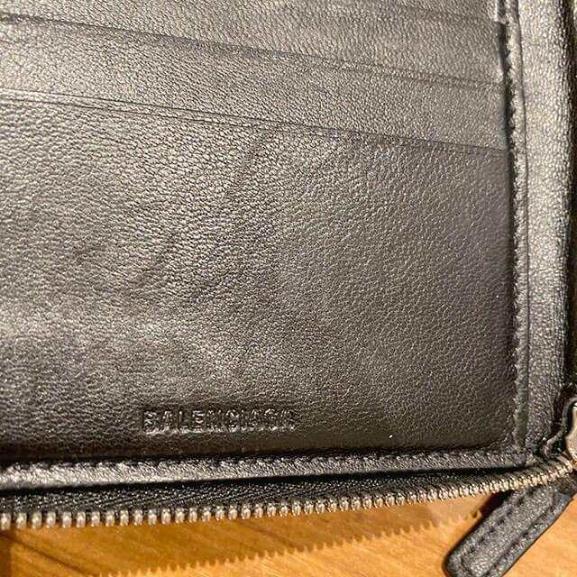 モノカウ緑橋店にて関目高殿のお客様からバレンシアガのラウンドファスナーの二つ折り財布を買取_04