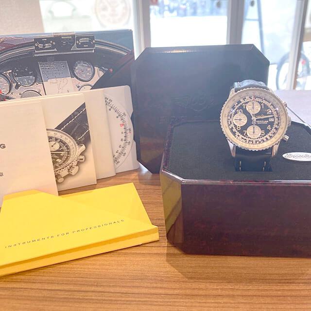 モノカウ緑橋店にて鶴見のお客様からブライトリングの腕時計【オールドナビタイマー】を買取_04