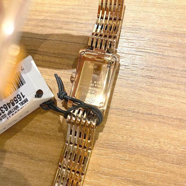 能美のお客様から宅配買取にてグッチのピンクゴールドの腕時計を買取_02