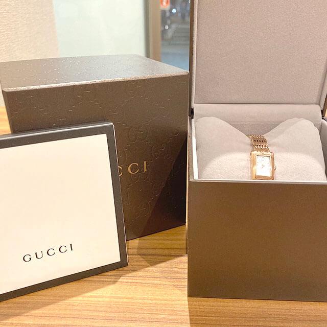能美のお客様から宅配買取にてグッチのピンクゴールドの腕時計を買取_04