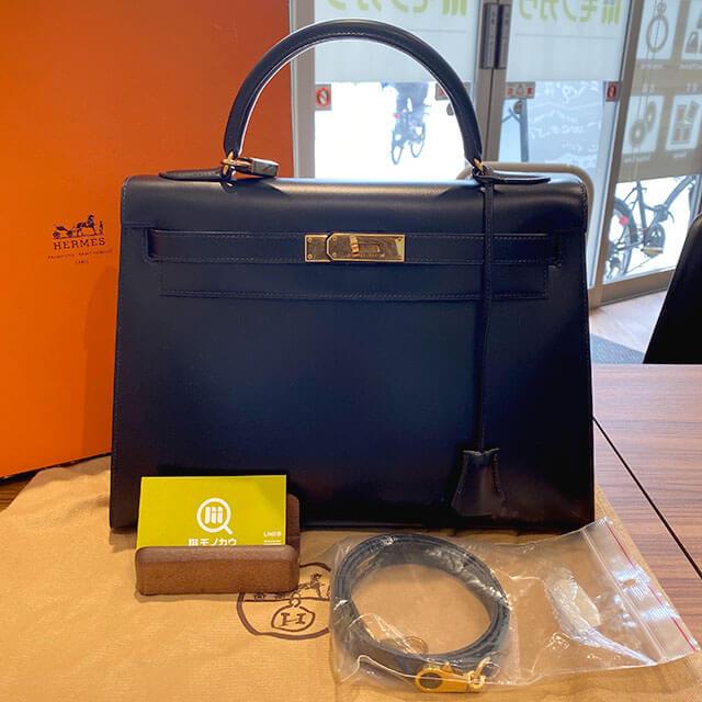 モノカウ緑橋店にて大阪のお客様からエルメスのバッグ【ケリー32】を買取_01