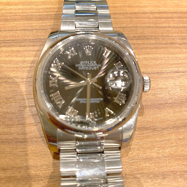モノカウ心斎橋店にてロレックスの腕時計【デイトジャスト サンビーム】を買取_02