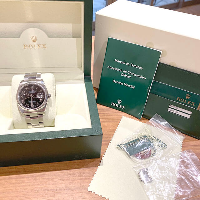 モノカウ心斎橋店にてロレックスの腕時計【デイトジャスト サンビーム】を買取_04