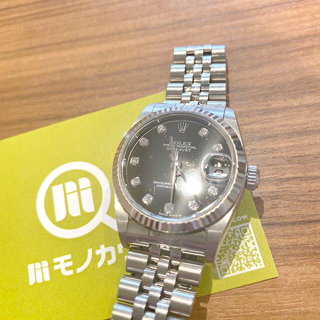モノカウ玉造店にて森ノ宮のお客様からロレックスの腕時計【デイトジャスト】を買取_01