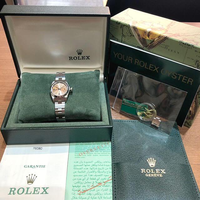 モノカウ心斎橋店にて岸和田のお客様からロレックスの腕時計【オイスターパーペチュアル】を買取_04