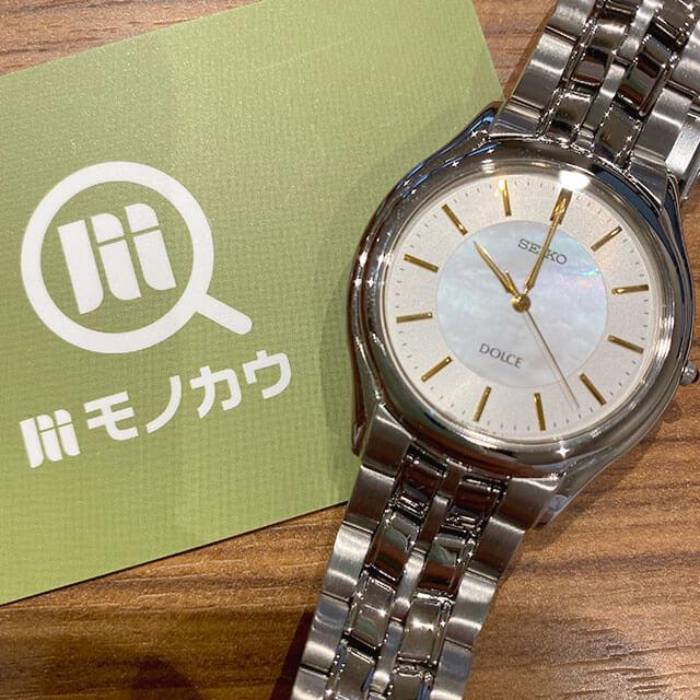 モノカウ心斎橋店にて奈良のお客様からセイコーの腕時計【ドルチェ】を買取_01