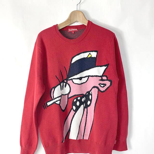 モノカウ玉造店にて東大阪のお客様からシュプリームの【14SS Pink Panther Sweater】を買取_01