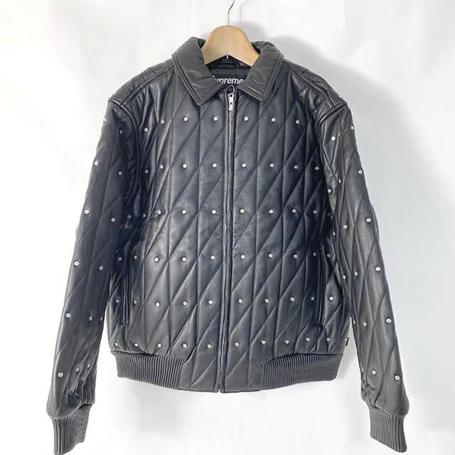 モノカウ心斎橋店にて豊中のお客様からシュプリームの【Quilted Studded Leather Jacket】を買取_01