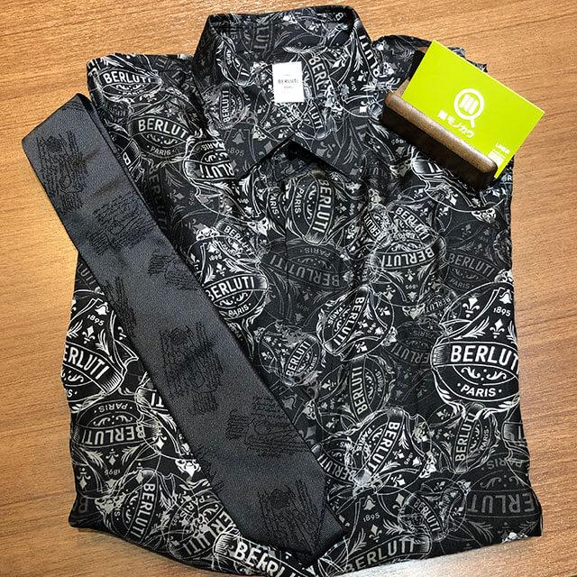 モノカウ心斎橋店にて大正のお客様からベルルッティのシャツとネクタイを買取_01