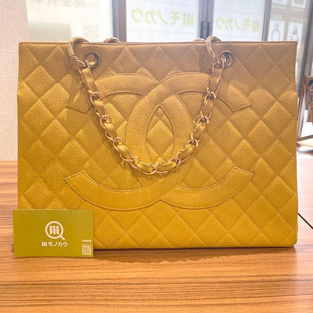 熊本のお客様から宅配買取にてシャネルのキャビアスキンのチェーンバッグを買取_01