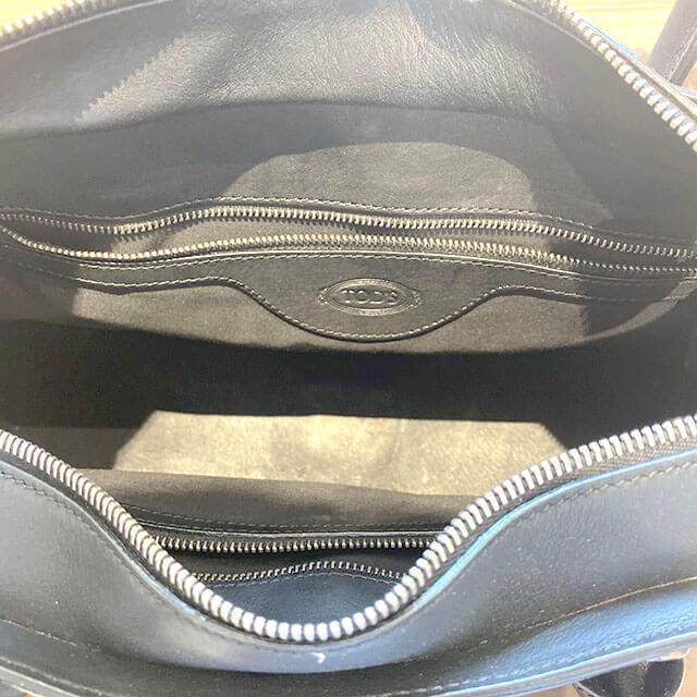船橋のお客様から宅配買取にてトッズのレザートートバッグを買取_04