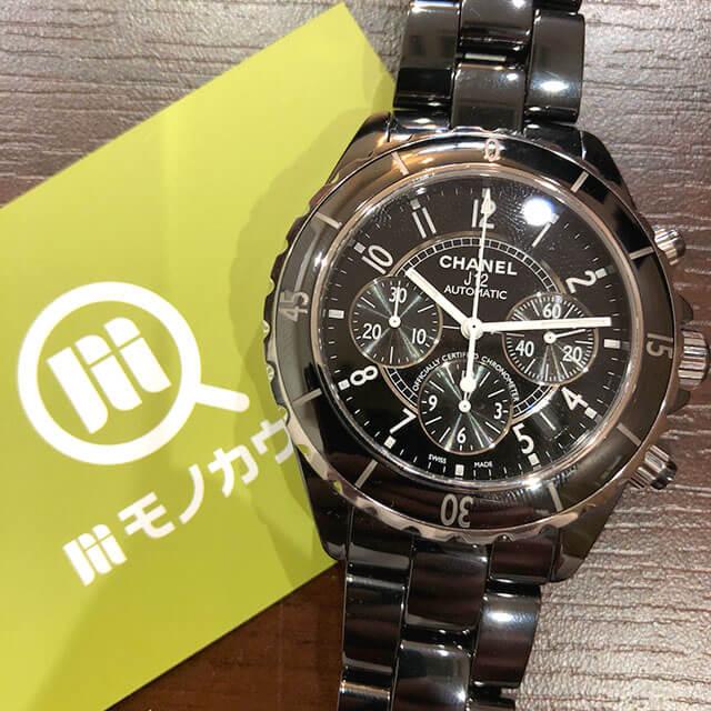 モノカウ緑橋店にて住之江のお客様からシャネルの腕時計【J12 クロノグラフ 】を買取_01