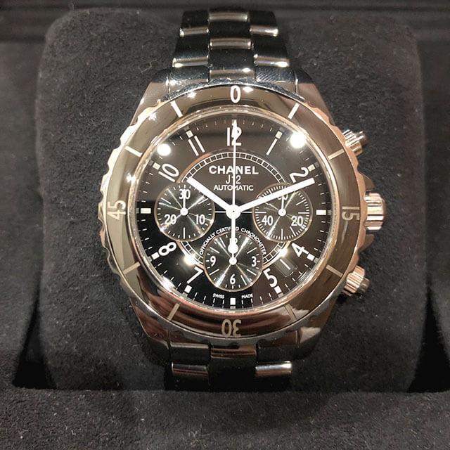 モノカウ緑橋店にて住之江のお客様からシャネルの腕時計【J12 クロノグラフ 】を買取_02