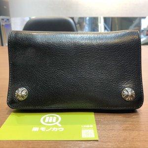 モノカウ心斎橋店にて池田のお客様からクロムハーツの長財布【ジップレザーウォレット】を買取