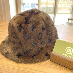 山形のお客様から宅配買取にてヴィトンのミンクの帽子【ハットファー】を買取