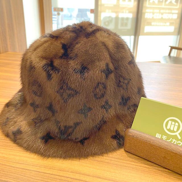山形のお客様から宅配買取にてヴィトンのミンクの帽子【ハットファー】を買取_01
