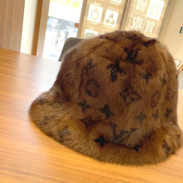 山形のお客様から宅配買取にてヴィトンのミンクの帽子【ハットファー】を買取_02