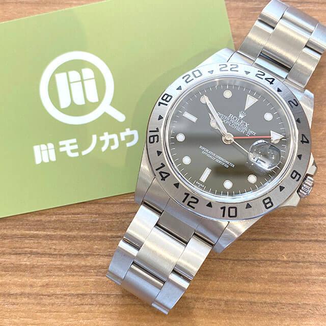 モノカウ緑橋店にて東成のお客様からロレックスの腕時計【エクスプローラーⅡ】を買取_01