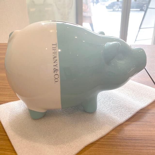 モノカウ北見営業所にて北海道のお客様からティファニーの貯金箱【ピギーバンク】を買取_04