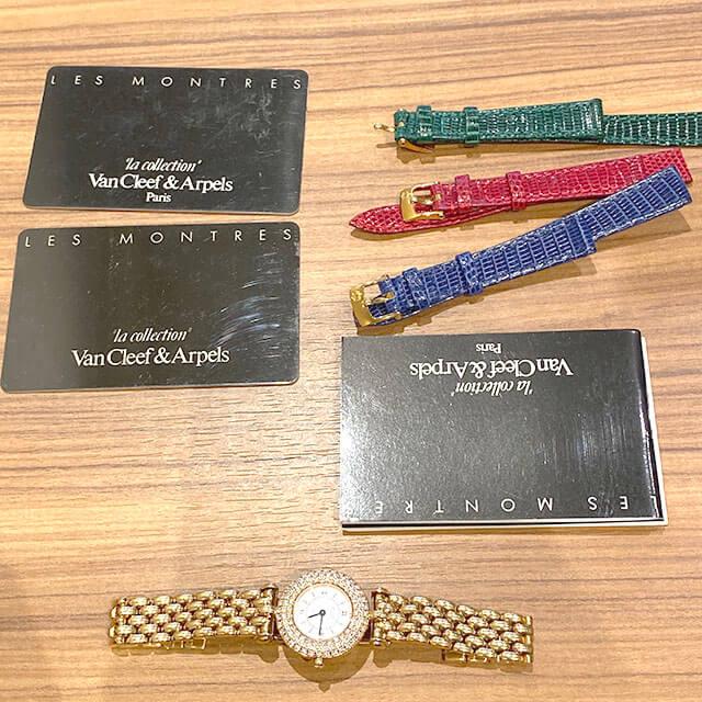 モノカウ玉造店にて東成のお客様からヴァンクリーフ&アーペルの【ダイヤベゼル×K18】腕時計を買取_04
