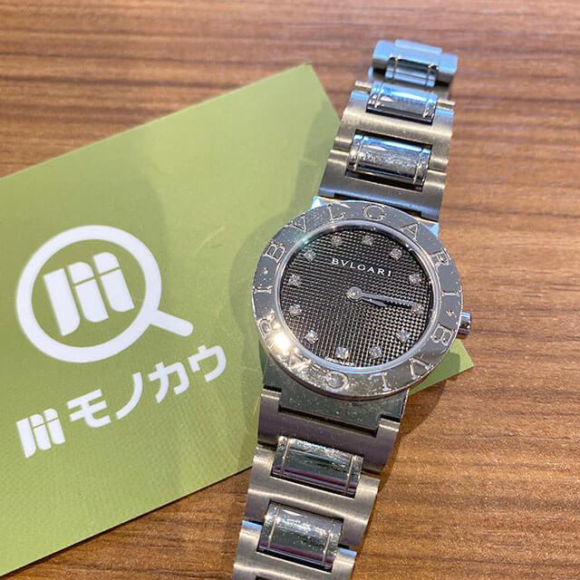 モノカウ緑橋店にて城東区のお客様からブルガリの12Pダイヤの腕時計【ブルガリブルガリ】を買取_01