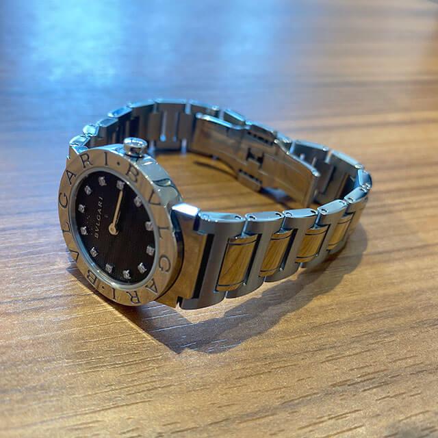 モノカウ緑橋店にて城東区のお客様からブルガリの12Pダイヤの腕時計【ブルガリブルガリ】を買取_04