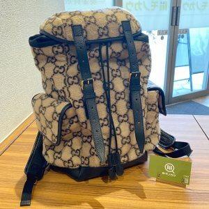 モノカウ心斎橋店にて十三のお客様からグッチの【GGウール】バックパックを買取
