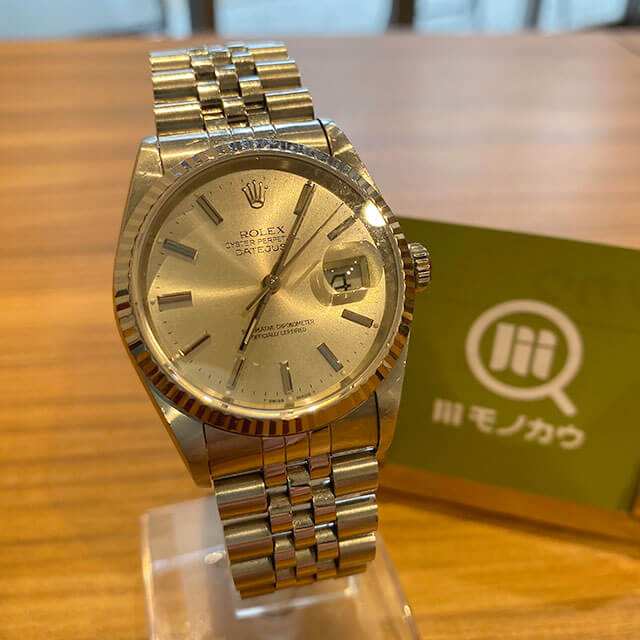 モノカウ心斎橋店にて上本町のお客様からロレックスの腕時計【デイトジャスト】を買取_01