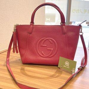 モノカウ玉造店にて東大阪のお客様からグッチの2wayバッグ【ソーホー】を買取