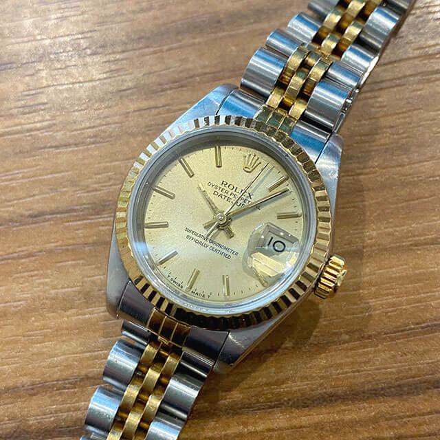 東京のお客様から宅配買取にてロレックスの腕時計【デイトジャスト】を買取_02